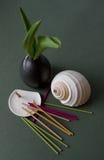 aromatyczny Japan porcelany stojak wtyka wazę obraz stock