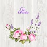 Aromatyczny laveder i wzrastał royalty ilustracja