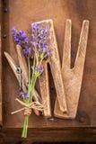 Aromatyczny lawendowy przygotowanie dla domowego dryingin lata obrazy stock