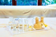 Aromatyczny masażu set zdjęcia royalty free