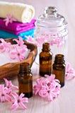 Aromatyczny olej dla zdroju fotografia stock