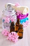 Aromatyczny olej dla zdroju zdjęcia stock