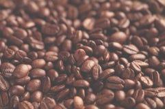 Aromatyczny piec kawowy tło zamknięty w górę fotografia royalty free