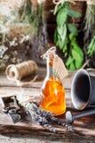 Aromatyczny tincture jako naturalna medycyna z ziele fotografia royalty free