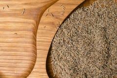 aromatyczny wysuszony kmin w drewnianym tle obrazy royalty free