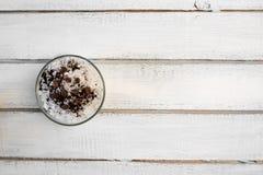 Aromatyczny zdroju kawowy ustawiający z morze solą zdjęcie stock