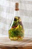 aromatycznych butelek nafciana oliwka Fotografia Stock
