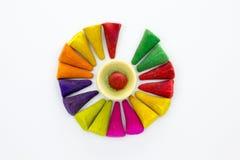 Aromaweihrauch lässt viele riechen und färben Stockbilder