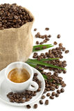 Aromen av kaffe Arkivfoton