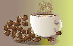Aromen av kaffe Royaltyfria Bilder