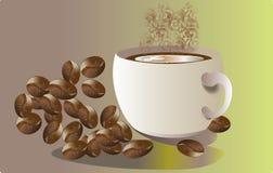 Aromen av kaffe royaltyfri illustrationer