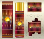 Aromes cosmetici dell'aerosol dei toni rossi Fotografia Stock