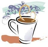 aromkaffe vektor illustrationer