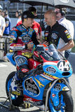 Aron Canet Moto3 Κατώτερη Estrella Γαλικία ομάδα Στοκ φωτογραφίες με δικαίωμα ελεύθερης χρήσης