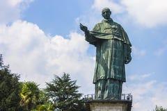 Arona, Italy. The San Carlone or Sancarlone or the Colossus of San Carlo Borromeo, a massive bronze statue erected between 1614 and 1698. Sacro Monte di Arona Royalty Free Stock Images