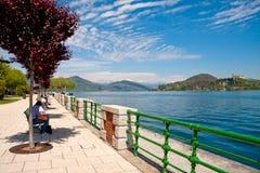 Arona, Lake Maggiore Stock Image