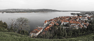 Arona, landscape in spring. Piedmont - Italy Stock Photography