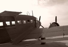 Aéronefs de cru Image libre de droits