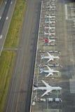 Aéronefs de production de Boeing sur la ligne d'essai de vol Photographie stock