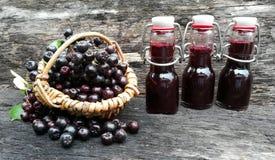 Aronia fruit juice Stock Photo