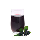 Aronia juice. Isolated on white stock photography