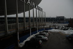 Aéroport de JFK après une tempête Photos stock