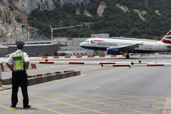 Aéroport du Gibraltar Photographie stock