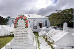 Arorangi CICC教会在拉罗通加库克群岛 库存图片