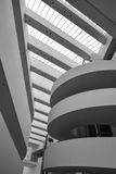 ARoS美术馆,奥尔胡斯,丹麦-抽象形状 免版税库存照片