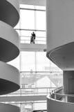 ARoS Art Museum, Århus, Danmark - gå broar Fotografering för Bildbyråer