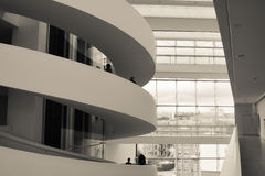 ARoS Art Museum, Aarhus, Dinamarca - espiral da escada Imagem de Stock Royalty Free