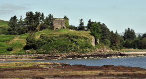 Aros Castle Ruin. Aros Mains, Mull, Argyll and Bute, Scotland, U.K. On the A849 Royalty Free Stock Photography