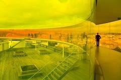 ArOS-Kunstmuseum - Regenbogenpanorama Stockfoto