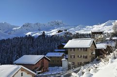 Arosa Ski Resort Royalty Free Stock Photos