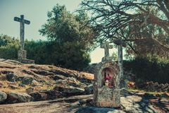 Arouca calvary stock photography