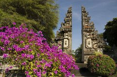 Around Bali Indonesia Series. This is how one of the ancient structure looked like.  In the ancient days, the landmark structure represents entrance to holy Stock Photos