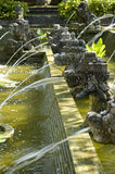 Around Bali Indonesia Series. This is how one of the ancient fountain structure looked like.  It has been arranged beautifully all over the pond around the Royalty Free Stock Photography