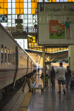 Around Bangkok Railway Station or Hua Lamphong Station is the main railway station in Bangkok, Thailand. Bangkok, Thailand - November 19, 2016 : around Bangkok Royalty Free Stock Image