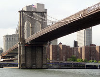 Around Brooklyn Bridge in New York Stock Photography