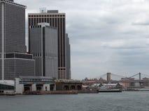 Around Brooklyn Bridge in New York Royalty Free Stock Photography