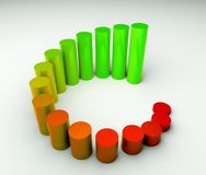 Around business diagram 3d Stock Photo