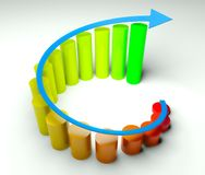Around business diagram 3d Stock Images