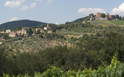 Around Castle of Brolio in Chianti Royalty Free Stock Image