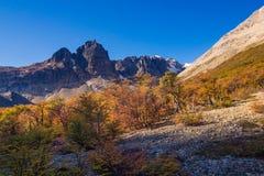 Around Cerro Castillo in Carretera austral in chile - Patagonia. Aysen stock photos