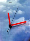 Around the clock. Clock with clouds vector illustration