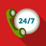 Around the clock icon of vector illustration for web and mobile. Design Royalty Free Stock Photography