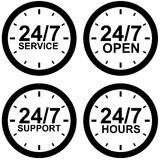 Around-the-clock operating hours Stock Photo