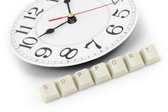 Around the clock support Stock Photography