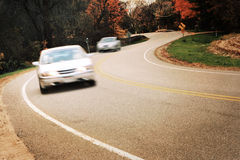 Around the curve, motion blur stock photo