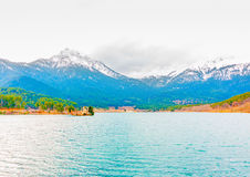 Around Doxa lake in Greece Stock Images